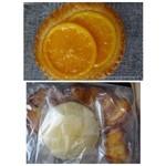 ル・パン・リュストー - ◆オレンジデニッシュ・・生地にバターが少ないですね、 ◆パンの詰め合わせ(380円)