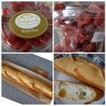 ル・パン・リュストー - ◆ドライ苺(550円)・・苺そのものを乾燥させたのではなく砂糖が使用されていますので、甘いですね。 下:人気らしい「バゲット(290円)」