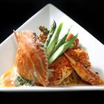 PURE+ - 渡り蟹のトマトクリームパスタ 1400円