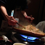 37186022 - 牛肉のすきやき風陶板焼き