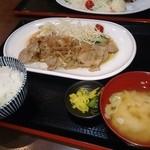 37191634 - 豚の生姜焼き定食(ダブル)1300円