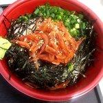 浜のかきあげや - 漁師の沖漬け丼(2015.4)