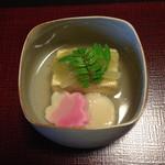 山茶花 - 炊き合わせ       ホタテが野菜と同化してハーモニーを奏でています。