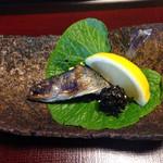 山茶花 - ヤマメ       昆布の甘辛煮?