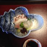 山茶花 - 刺身       タコ鯵ヒラメ