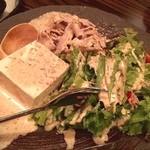 よいよい - 寄せ豆腐と豚しゃぶ胡麻サラダ‼️