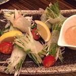 よいよい - 水菜と海鮮の胡麻だれ!