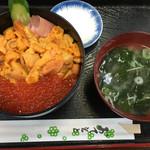 食事処 魚屋の台所 - ウニいくら丼