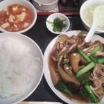 37199567 - 茄子はたけしめじ小松菜豚肉炒め定食