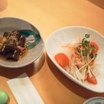 弥助 - ランチのサラダ、小鉢