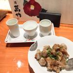酒と肴 萬作 - コンニャクの米粉揚げ
