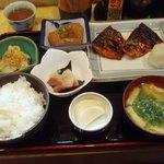のざき - さばみそ焼き定食 730円