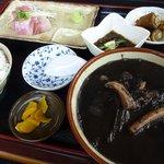 奥武島海産物食堂 - いか汁定食。