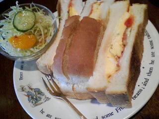 珈琲の森 - ◆2014年4月~¥420◆モーニング¥400(ミックストーストサンド)