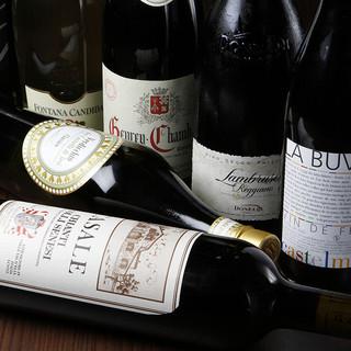 ワイン好き必見!90種のボトルワインと10種のグラスワイン