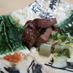 銀座あんどう - 牛タン焼く