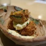 銀座あんどう - 子持ち昆布のフライに自家製タルタルソース山椒風味