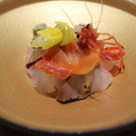 銀座あんどう - 裏から、赤貝、サザエ