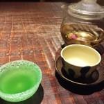沖縄懐石 赤坂潭亭 - 島美人酵素ジュース。月桃茶。