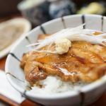 蝦夷前そばと豚丼 北堂 - ざる、ミニ豚丼セット