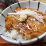 蝦夷前そばと豚丼 北堂 - ミニ豚丼