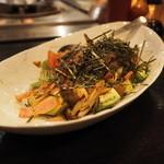 鉄板焼千珠 - サラダ