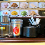 麺匠七福門 - 調味料