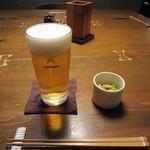 蕎麦屋 山都 - 「生ビール」