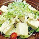 とりまる - ごまサラダ蒸し鶏と豆腐の