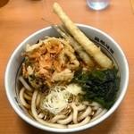 名代 箱根そば - 桜海老のミニかき揚げと姫竹天のうどん