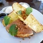 カフェギャラリーコンバーション - りんごとクリームチーズのほっとけーき