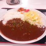 オリーブカフェ - プレーンカレー(大盛り)+ルー1.5倍 700円