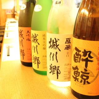 酔鯨、城川郷…アルコールが豊富。