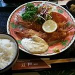にっぽんの洋食 江戸一 - 2013/10/15 12:30訪問 海老フライ定食\1,250