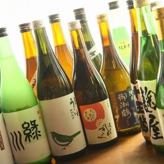 全国各地から選りすぐりの日本酒を約15種類ほどご用意!