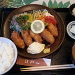にっぽんの洋食 江戸一 - 2013/11/13 12:05訪問 牡蠣フライ定食\850