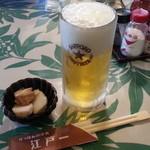 にっぽんの洋食 江戸一 - 2013/11/18 12:05訪問 生ビール\600
