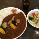 ワンダカレー店 - 揚げ野菜カレー ➕ ミニサラダ