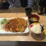 なにわ食堂 - トンカツ&チキンカツランチ¥794