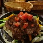 メキシカン・バー ソル・マリアッチ - 牛ステーキのファフィータ(トルティージャ4枚付き、1,800円)