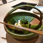 京都 瓢斗 - 京都大原野産 朝掘り筍の若竹煮、若布、里蕗