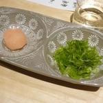 京都 瓢斗 - ポン酢の薬味紅葉おろしと青葱の小口切り