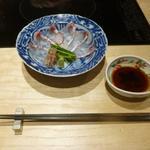 京都 瓢斗 - 造り、二、天然桜鯛の薄造り