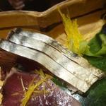京都 瓢斗 - 鰹は腹身で隠し包丁が入っていました。