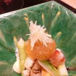京都 瓢斗 - 土佐酢のジュレと新生姜の針生姜添え