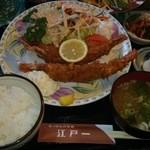 にっぽんの洋食 江戸一 - 2014/02/18 12:20訪問 エビフライ定食\1,250