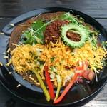 島野菜カフェ Re:Hellow BEACH - 島野菜と島豆腐のタコライス