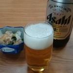すかい食堂 - 料理写真:2014/04/01 12:15訪問 瓶ビール
