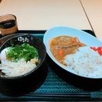 はなまるうどん - カレーセット(530円)