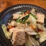 三虎 - 豆腐チャンプルー 出汁の味しっかりでうまうまやみつき